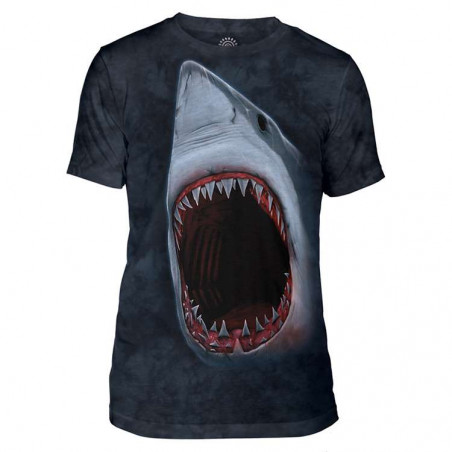 Shark Bite Mens Tri-Blend T-Shirt