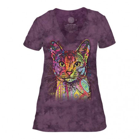 Abyssinian Womens Tri-Blend V-Neck T-Shirt