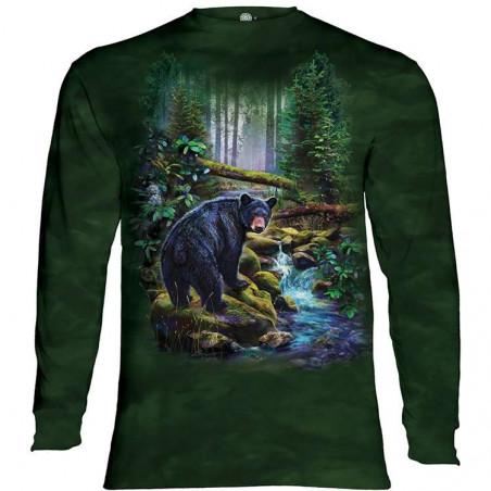 Black Bear Forest Long Sleeve Tee
