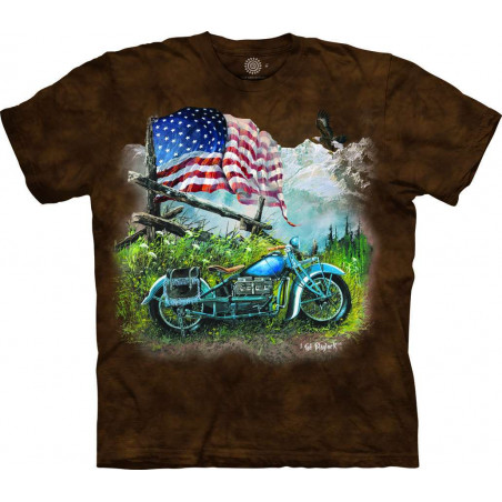 T-Shirt American Biker Americana The Mountain