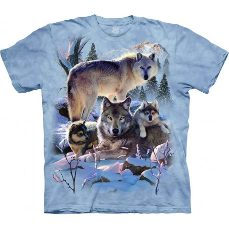 T-Shirt Wolf Family Mountain The Mountain