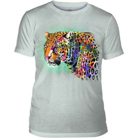 Mens T-Shirt Tri-Blend Painted Cheetah Grey The Mountain