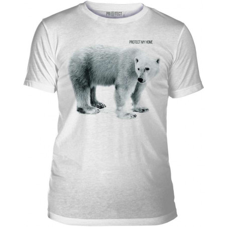 Mens T-Shirt Tri-Blend Polar Bear My Home The Mountain