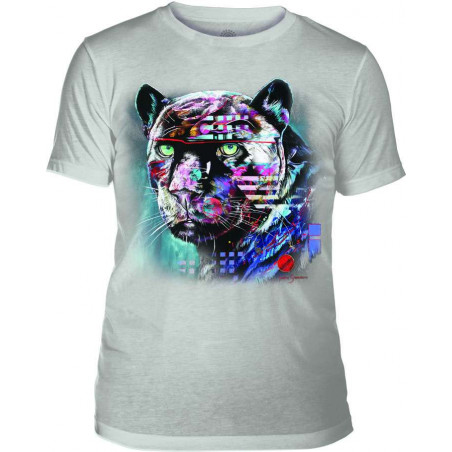 Mens T-Shirt Tri-Blend Painted Jaguar Grey The Mountain