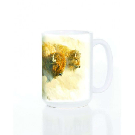 Ceramic Mug Bison Herd