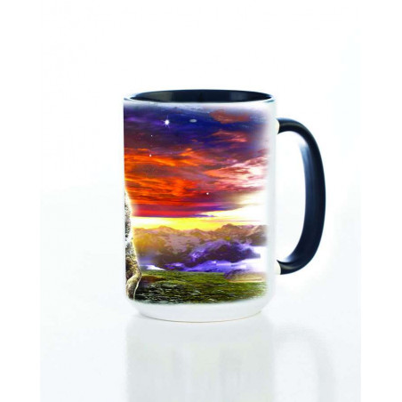 Ceramic Mug Wolf Family Sunrise