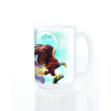 Ceramic Mug American Eagle Flag