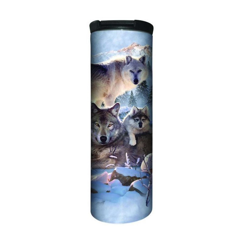 Travel Mug Wolf Family