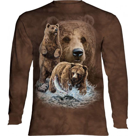 Find 10 Brown Bears Long Sleeved T-Shirt