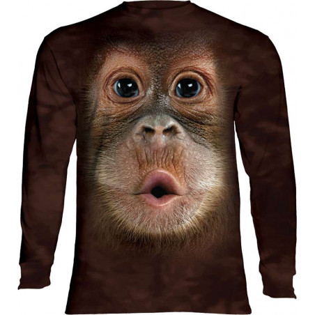 Baby Orangutan Face Long Sleeve T-Shirt