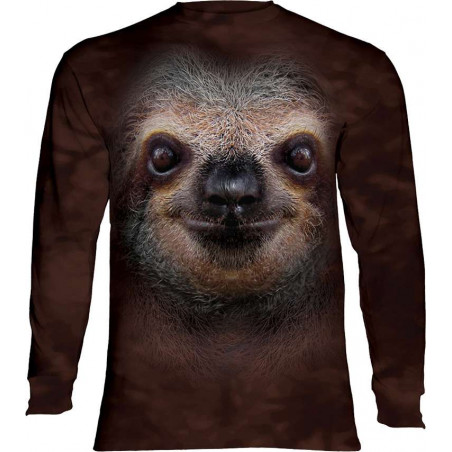 Sloth Face Long Sleeve T-Shirt