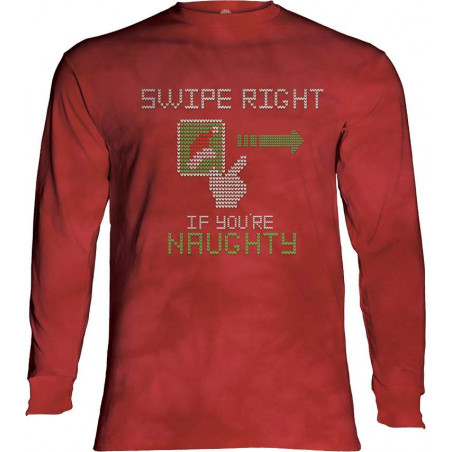 Swipe Right Naughty Long Sleeve T-Shirt