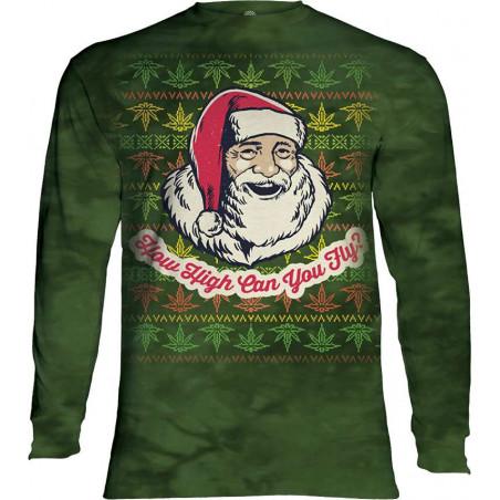 Fly High Santa Long Sleeve T-Shirt