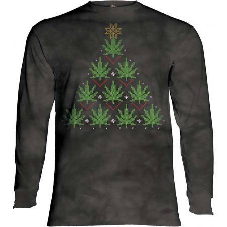 Christmas Cannabis Long Sleeve T-Shirt