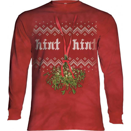 Mistletoe Hint Hint Long Sleeve T-Shirt