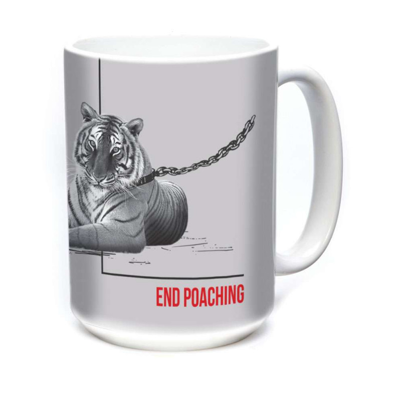 Ceramic Mug Poaching Tiger