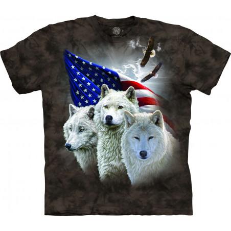Patriotic Wolves T-Shirt