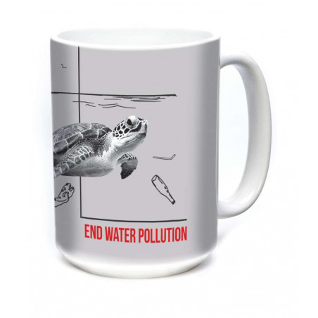 Ceramic Mug Water Pollution Turtle