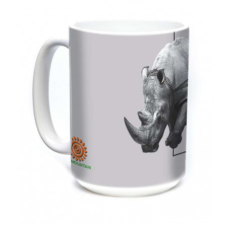 Ceramic Mug Poaching Rhino