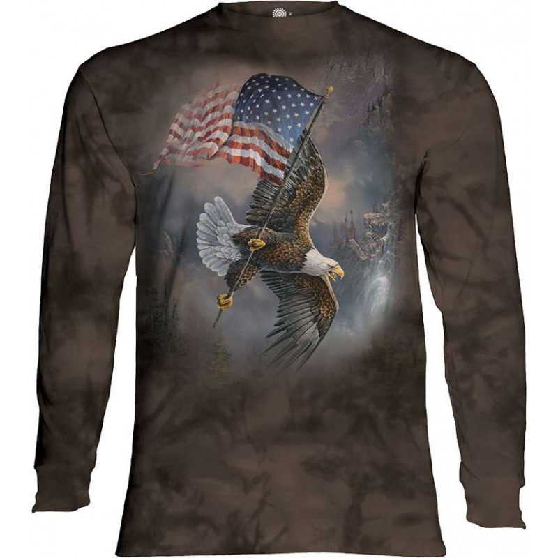 Flag Bearing Eagle Long Sleeve T-Shirt