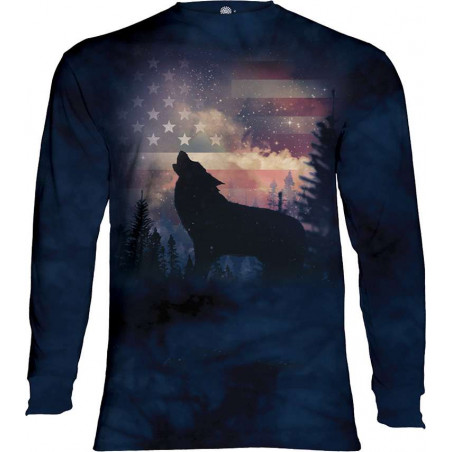 Patriotic Howl Long Sleeved T-Shirt