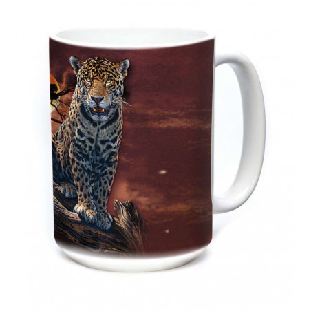 Ceramic Mug Blood Moon Leopard