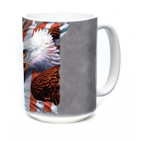 Ceramic Mug Patriotic Screaming