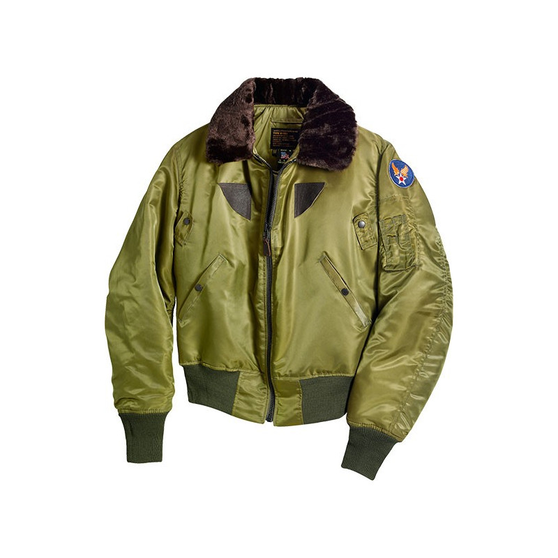 Bomber Jacket B-15 Nylon Cockpit USA Olive - clothingmonster.com