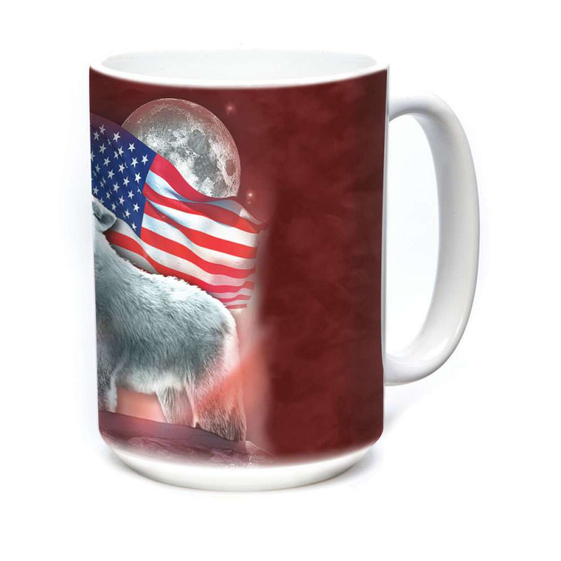 Ceramic Mug Patriotic Lights