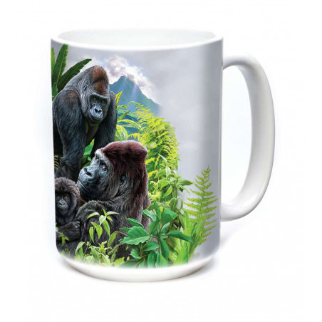 Ceramic Mug Gorilla Family