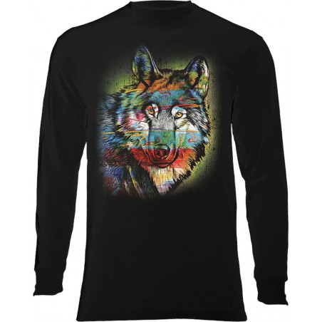 Painted Wolf Long Sleeve T-Shirt