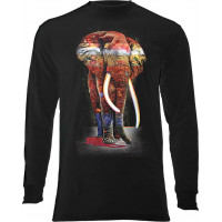 Painted Elephant Long Sleeve T-Shirt
