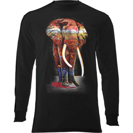 Painted Elephant Long Sleeve T-Shirt