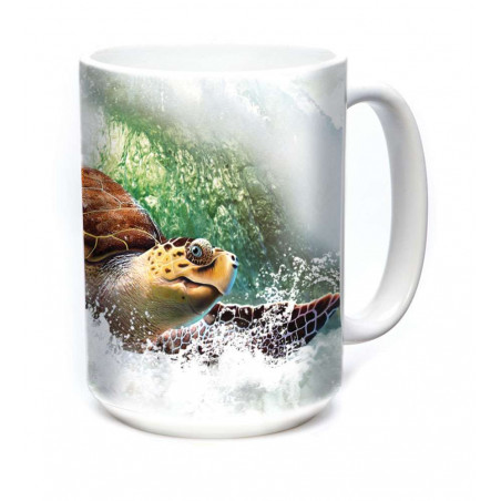 Ceramic Mug Surfin' Sea Turtle