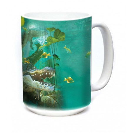 Ceramic Mug Alligator Swim