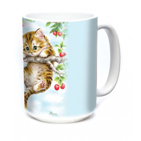 Ceramic Mug Cherry Kitten