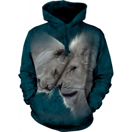 White Lions Love Hoodie