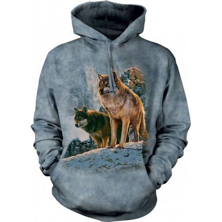 Wolf Couple Sunset Hoodie