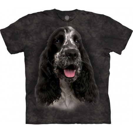Black And White English Cocker Spaniel T-Shirt