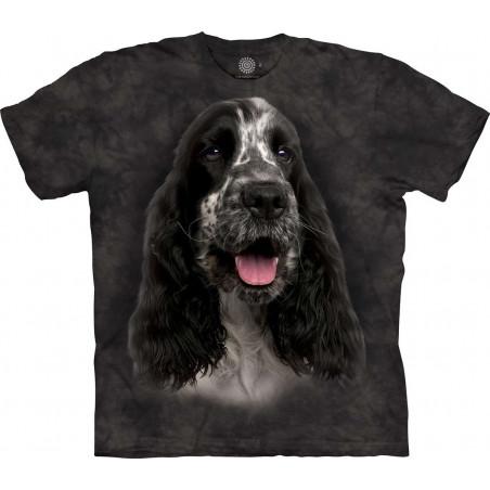 Black And White English Cocker Spaniel T-Shirt