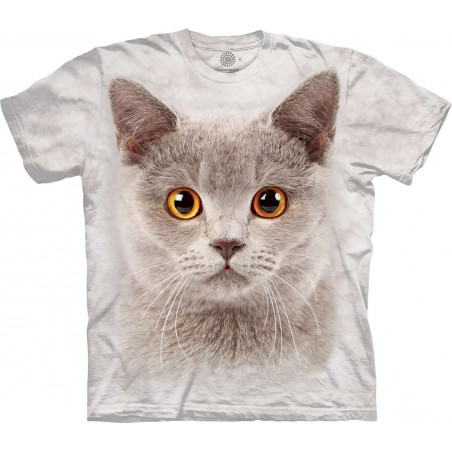 Little Grey Cat Face T-Shirt