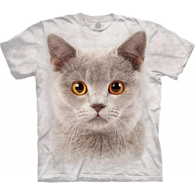 Little Grey Cat Face T-Shirt