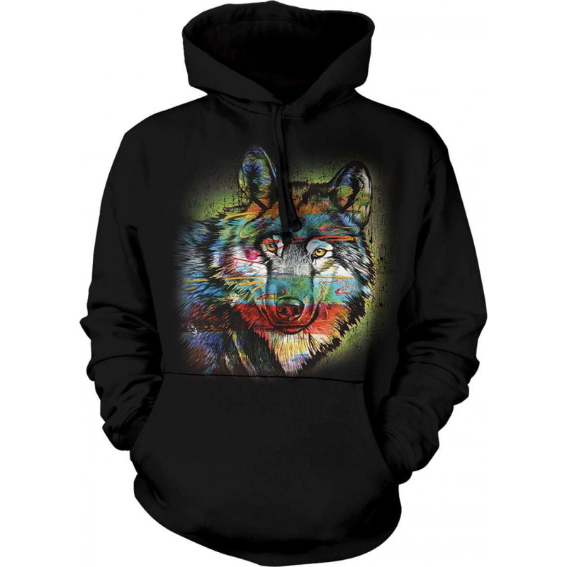 Painted Wolf Hoodie