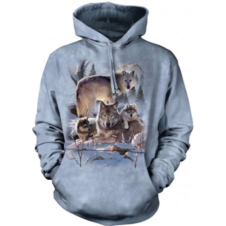 Wolf Family Mountain Hoodie