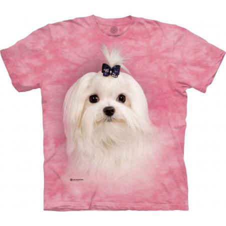 Girly White Maltese T-Shirt