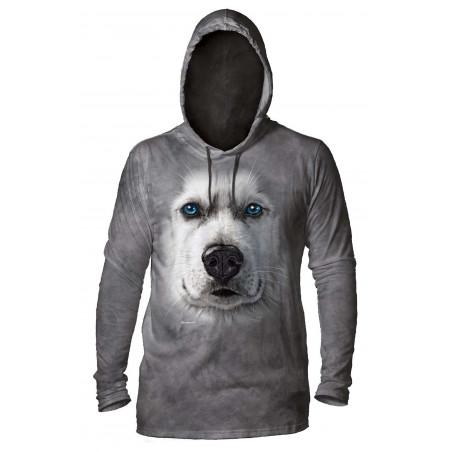 Siberian Husky Grey Hoodie