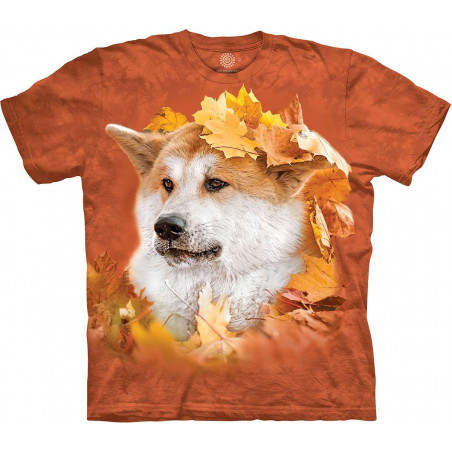 Akita In The Leaves T-Shirt