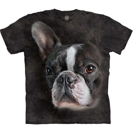 Brindle Boston Terrier Portrait T-Shirt