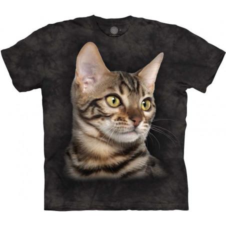 Striped Cat Portrait T-Shirt