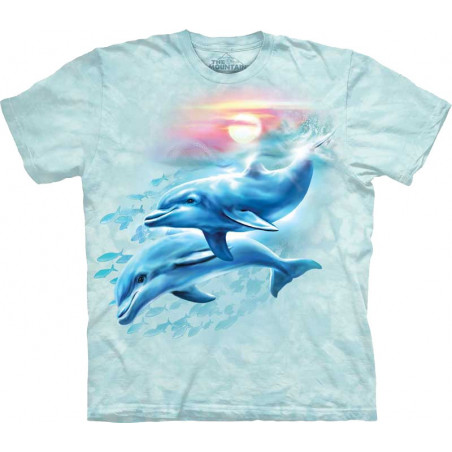 Dolphin Sunset T-Shirt The Mountain
